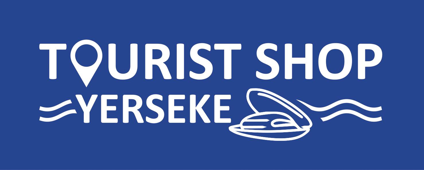 Logo wit op blauw